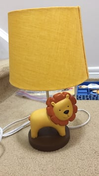 yellow and red table lamp
