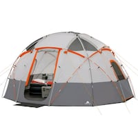 Ozark Trail 12-Person Base Camp Tent with Light Riverside, 92509