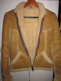 New Zealand Ladies Genuine Vintage Leather Suede Sheepskin Barn Jacket - Size Small Winnipeg