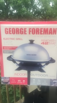 white and black George Foreman electric grill box Manassas, 20111