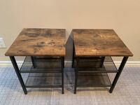 Two Industrial Style End Tables - WHOLESALE Port Coquitlam