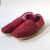 TOMS Red Laced Shoes
