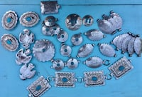 Silver tone teal/turquoise Native American / American cowboy decorative links classic jewelry San Jacinto, 92583