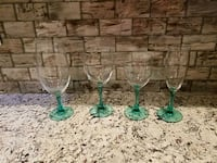 Wine, Champagne, and Water Glasses