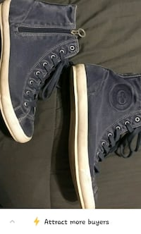 Lacoste ladies faded blue high tops size 9 REDUCED ! Edmonton, T5M 1Z9