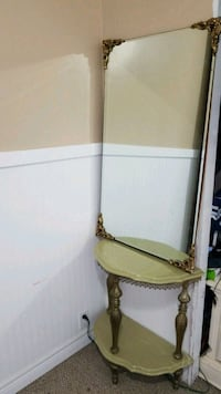 Antique side table and mirror  Quinte West, K8V 5P5