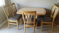 Tan dining table w/5 chairs