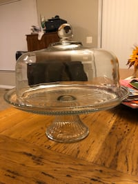 Crystal glass cake stand with dome Dumfries, 22025