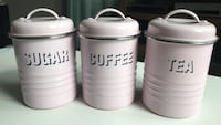 Set of three metal pink canisters Des Moines, 50311