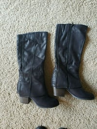 Wide calf black boots size 9 Newport News, 23606