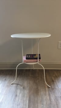White metal side table Ikea