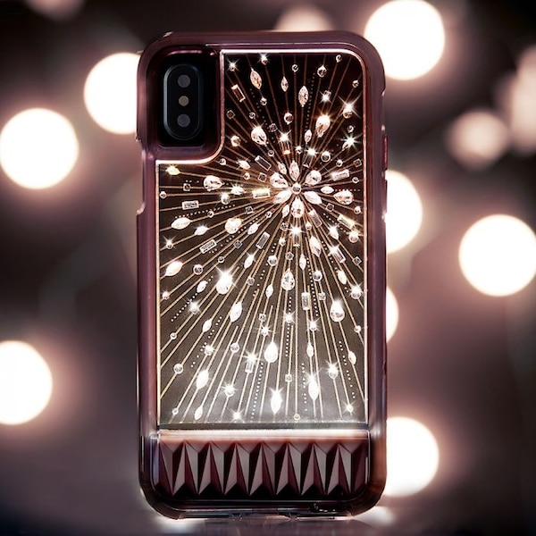 on sale 61b16 f78da Case Mate iPhone X Light Up Case Crystals Luminescent