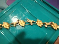 Gold slider Hummingbird flower bracelet  Visalia