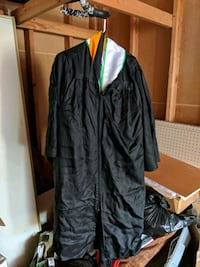 Masters and/or Bachelors black graduation gown  Fontana, 92337