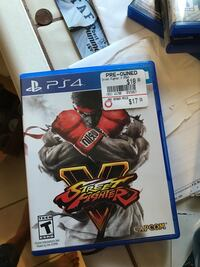 Sony PS4 Street Fighter 4 game case Los Angeles, 91364