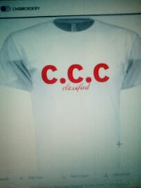 white and red CCC printed crew-neck t-shirt Dumfries