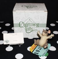 """Charming Tails by Fitz & Floyd Lottery """"I'm A Winner"""" #89/719 Figurine w/ Box Lewisville, 75057"""