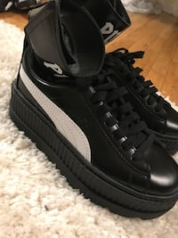 White and black Fenty Puma with ankle strap sneakers New York, 11367