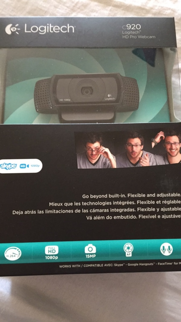 15e740baad4 Used Logitech c920 HD Pro Webcam for sale in Rowlett - letgo