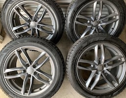 4 x 215/55/17 EXCELLENT CONDITION OEM AUDI RIMS AND TIRES $$$$950