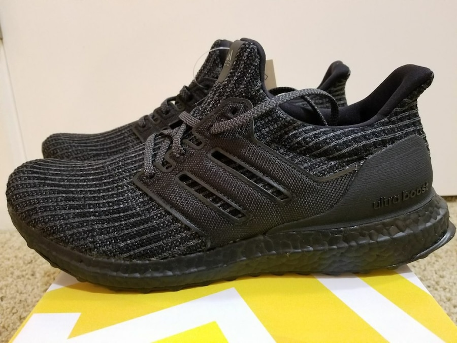 2d3d370975507 ... get new adidas ultraboost 4.0 triple black size 9.5 ds 016bd 41c9a