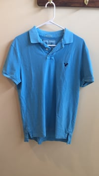 Men's American Eagle Blue Polo (Size: M) Chantilly, 20152