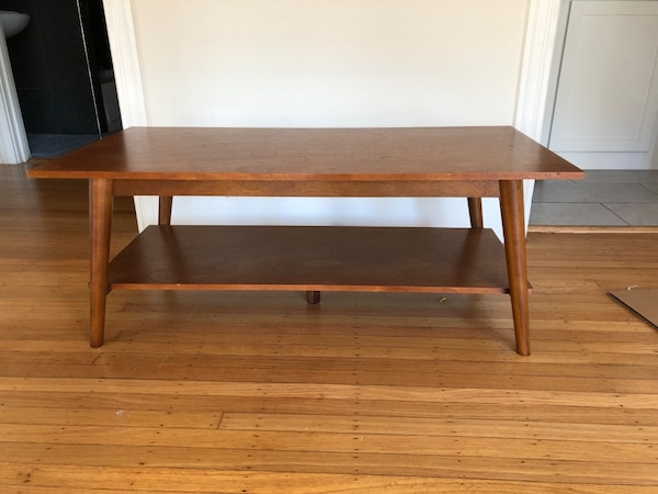 Amherst Mid Century Modern Coffee Table Brown