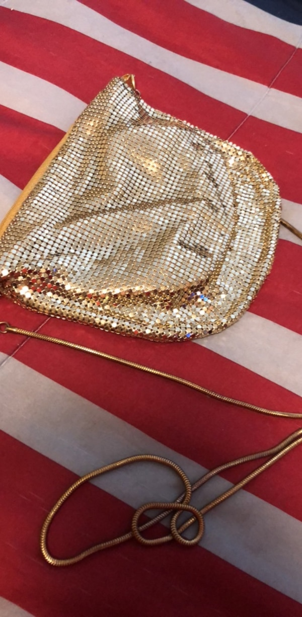 Vintage Gold Night Out Over Shoulder Bag