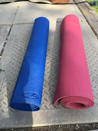 """2 yoga mats,  24"""" x 68"""" gently used - $5 each. Mississauga, L5L 5P5"""