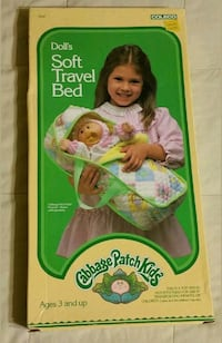 Vintage1984  Cabbage Patch Kids  Doll travel bed