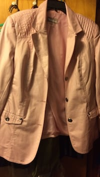 Light pink soft leather real