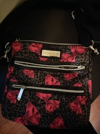 red and black floral crossbody bag Dallas, 75243