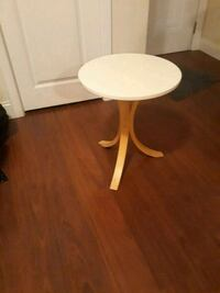round white wooden pedestal table 42 km