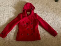 All red pea coat Triangle, 22172