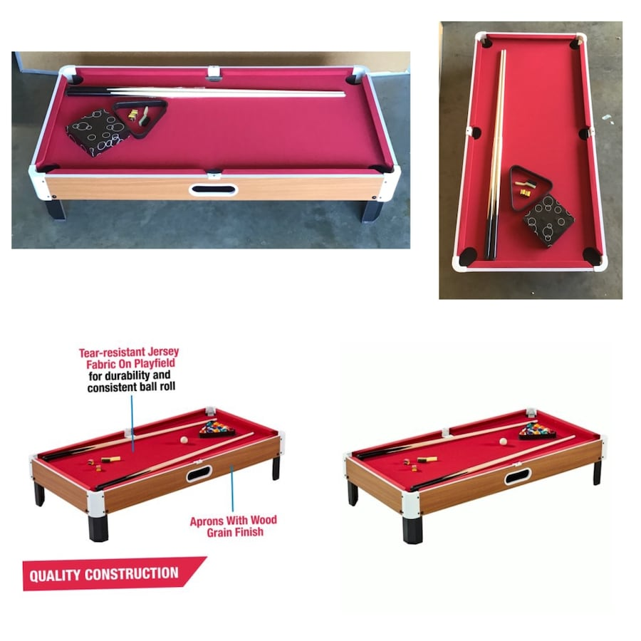 MD Sports Largest 48 Inch Tabletop Billiard Pool Table.