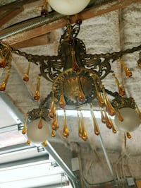 Early 1900s gothic with Murano glass chandelier  Barnhart, 63012