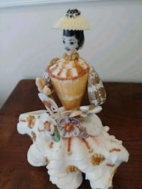 Doll made of sea shells home decor