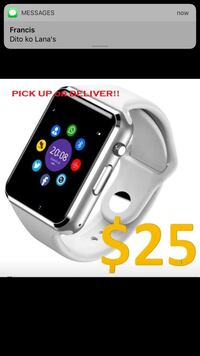 silver aluminum case Apple Watch with white sport band Calgary, T2K 5R5