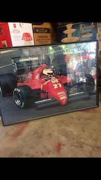 For Sale, Michele Alboreto Ferrari framed poster picture  Surrey, V3S 9C5
