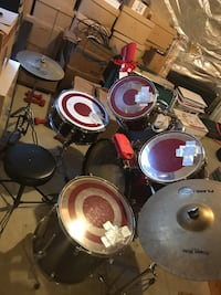 Black and red drum set Frederick, 21701