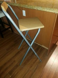Wood and steel  bar folding chair Surrey, V3T 3C5