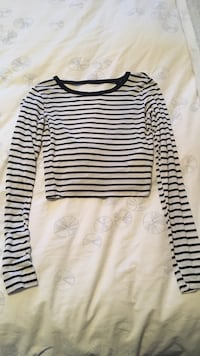 Black & white striped crop top from Hollister