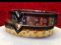 black and white leather Louis Vuitton belt
