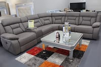 Brand new sectional Sofa with 3 Power reclining Seats and 3 USB charger ports $1550 Mesquite