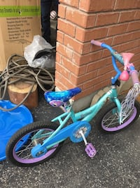 toddler's blue and purple bicycle Toronto, M1E 4Y5