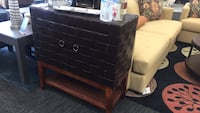 Brown Leather Accent Chest