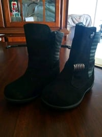 pair of black leather boots Compton, 90221