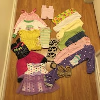 6-12m baby girl clothes and sandal lot Vancouver, V5V
