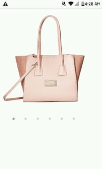women's pink leather tote bag 1966 km