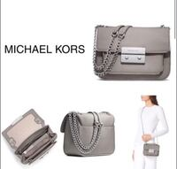 Michael Kors Light Grey Saffiano Dress Purse  Ingersoll, N5C